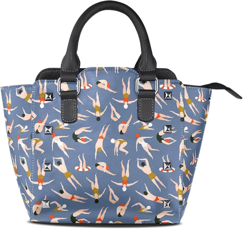 My Little Nest Women's Top Handle Satchel Handbag Summer Swimmers Ladies PU Leather Shoulder Bag Crossbody Bag