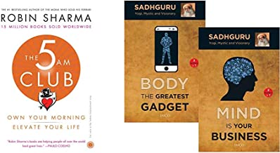 The 5 AM Club: Own Your Morning, Elevate Your Life + Mind is your Business/Body the Greatest Gadget (2 Books in 1) (Set of 2 Books)