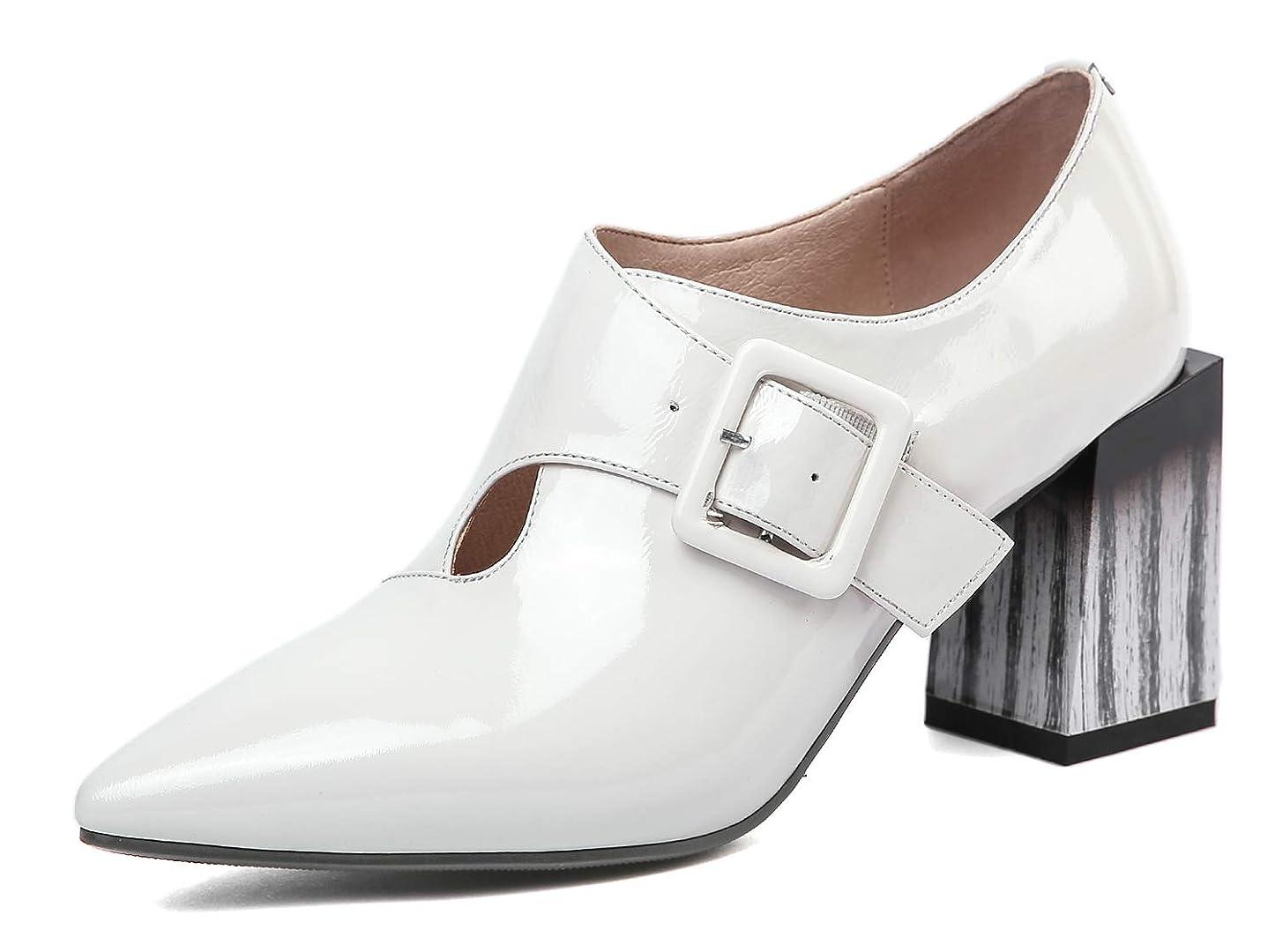 印象虐待与える[チカル] レディース ブーティ エメナル ブーツ 手造り チャンキーヒール ウェスタン シューズ ベロクロベルト ブーティー ハイヒール ショートブーツ 短靴 美脚 靴 7.5cm 太ヒール 牛革 レザー 本革 大きいサイズ