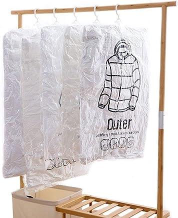 衣類圧縮袋 吊るせる 手動ポンプ付き Vicona衣類収納袋 しっかり真空、防湿、カビ、ダニ対策 引越しにも M×2枚 L×1枚 計3枚セット ハンガー クローゼット クローゼット吊り下げ収納