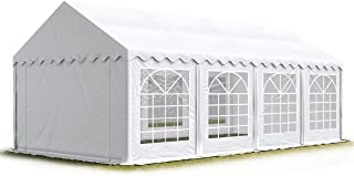 TOOLPORT Party-Zelt Festzelt 4×8 m Garten-Pavillon -Zelt ca. 500g/m² PVC Plane in..