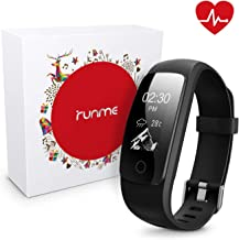runme Fitness Tracker with 24/7 Activity and Sleep Tracking, Heart Rate Monitor, 14 Sports Modes, IP67 Waterproof Level, Calls/SMS Notification for Android and iOS