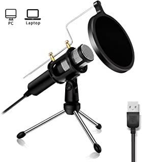 USB Microphone NASUM Computer Microphone,Plug &Play Home Studio Microphone,Condenser Microphone,Dual-layer Acoustic Filter, for YouTube,Facebook,Skype,Google Search,Podcasting, Games (Windows/Mac)