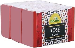 Divine India Rose Soap, 125 g (Pack of 3)