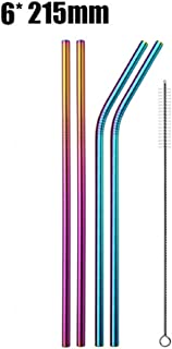Drinking Straw Stainless Steel Metal Straw Cleaner Brush 20 30 oz (4 PCS 215 MIX)