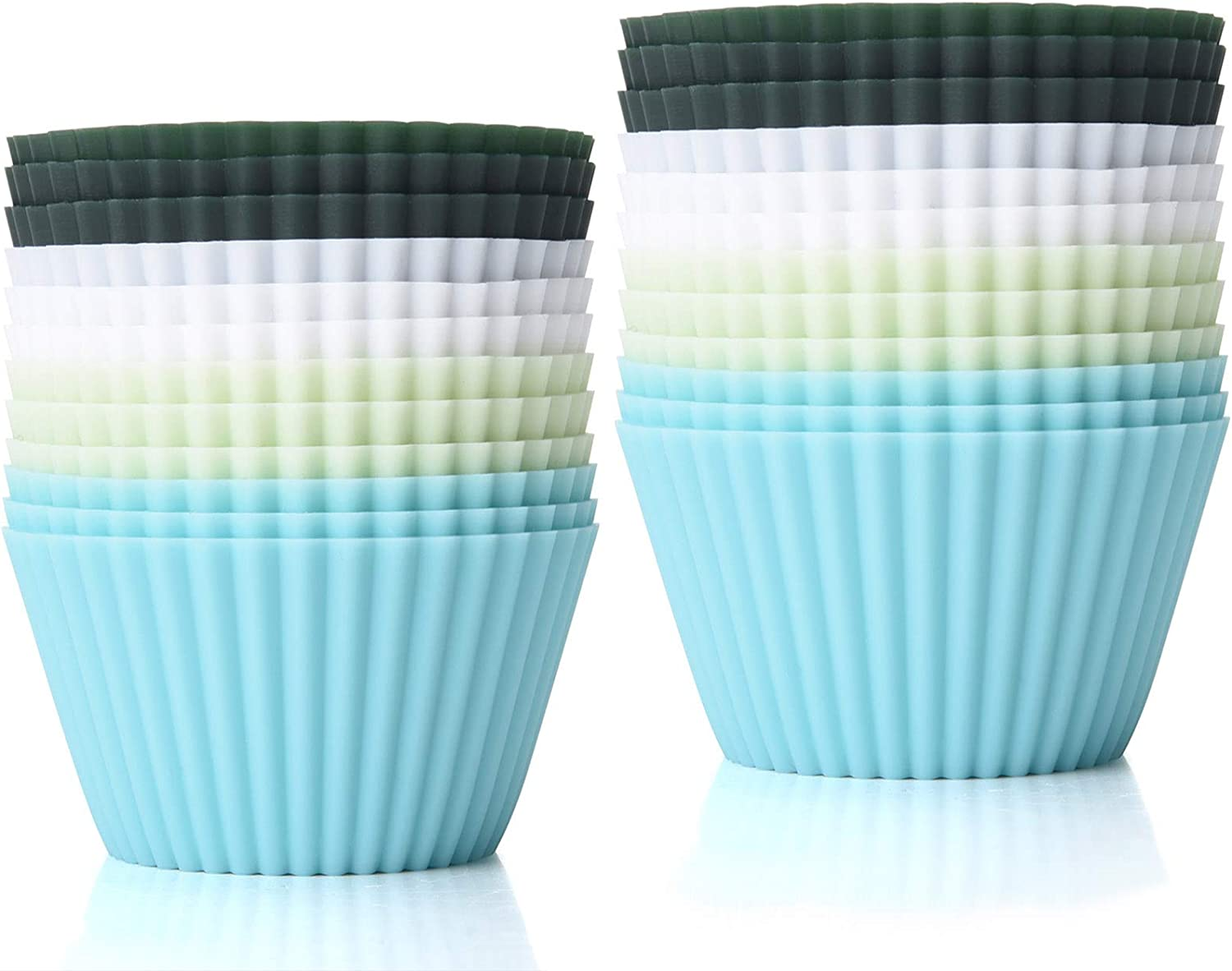 TeaRoo Silicone Baking Cups Reusable Low price free Muf 24 Pack Cupcake Liners