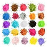 MOSUO Naturale Pigmenti Coloranti, 5g*25 Colori Mica Polvere Colorante Polveri Perlato per Sapone,...