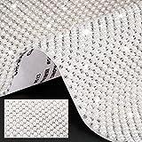 Pegatina de Diamantes de Imitación Cristal Perlas Brillantes Pegatinas Autoadhesivas de Gemas con Purpurina Hoja de Pegatinas Decorativas de Coche DIY para Móvil, 9,4 x 8 Pulgadas