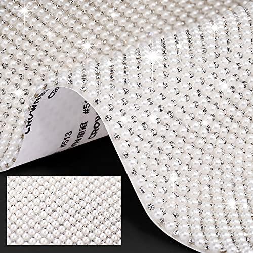 Pegatina de Diamantes de Imitación Cristal Perlas Brillantes Pegatinas Autoadhesivas de Gemas...