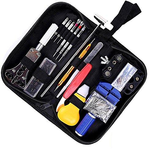 Horloge Reparatie Kit,Niceen 147 PCS Horloge Gereedschap Horloge Reparatie Kit Lente Bar Terug Case Opener Tool Set met Draagtas