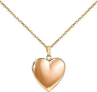 گردنبند عاشقانه قلب شما که تصاویر را نگه داشته و گردنبندهای قفسه های صیقلی هدایای تولد دختران پسر