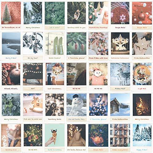Weihnachtskarten Set 35 Weihnachtspostkarten - Vintage Postkarten Set - Karten für Weihnachten, Christmas Cards