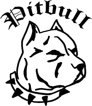 Pitbull Heckscheiben Aufkleber Sticker Carstyling Homestyling Kult Motiv Pitbull 2 Ca 30x30 Cm Auto