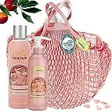 Un Air d'Antan Caja Belleza Rose Mujer,1 Gel de Ducha 250ml, 1 Crema Corporal Hidratante 200ml|en una bolsa FILT/Perfume Original Melocotón, Rosa|Navidad Regalo Mujer Originales, Cumpleaños