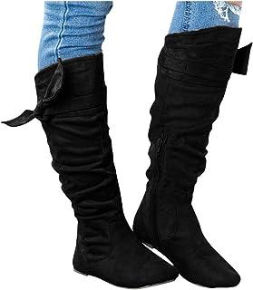 Schoenen Vrouw Leisure Eenvoudige Mode Toevallige Mooie Geknoopt Kniehoge Lange Laarzen Rits Schoenen Vrouw Falts