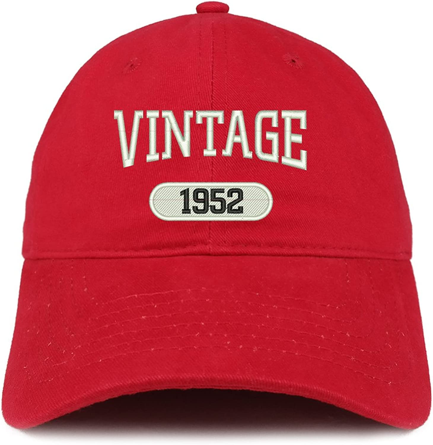 Trendy Apparel Shop Vintage 1952 Embroidered 67th Birthday Relaxed Fitting Cotton Cap