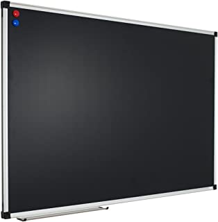 XBoard 48 x 36 Inch Magnetic Blackboard, Wall Mounted Chalkboard with Aluminum Frame and Chalk Tray