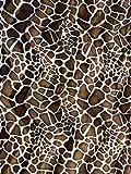 FabricLA Velboa S-Wave Short Pile Giraffe Print Fabric - 60' Inch Wide Giraffe Faux Fabric - Giraffe, 1 Yard