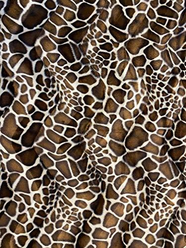 Velboa S-Wave Fabric Short Pile Faux Print - 60' W (Giraffe, 1 Yard)