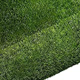 Quesuc Tappeti in Erba Sintetica Balconi e Terrazze da Esterno Finta Erba Tappeto Tappeto di Erba | Prato Sintetico Permeabile all'acqua con Protezione UV | Altezza 10 mm (100x100 cm)