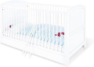 Pinolino - 110025 - Kinderbett Laura 140 x 70 cm - mit 3 Schlupfsprossen, Kiefer, teilmassiv, weiß lackiert