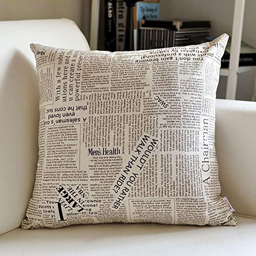 AI LI WEI kussen van linnen, klein en fris, eenvoudig, sofakussen, kantoor kussensloop, lumbale kussen