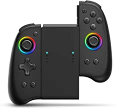 Joypad Controller, Binbok Joypad Support 8 Colour Adjustable LED,Wake-up Function, Wireless Joy Con Controller with Dual V...