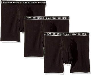 Kenneth Cole REACTION Men's Underwear Cotton Spandex Boxer Brief, Multipack & Single