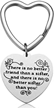iJuqi Sister Gifts from Sister - There is No Better Friend Than a Sister and There is No Better Sister Than You Sister Keychain Sister Jewelry Christmas Gifts for Sisters