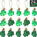 St Patrick's Day Shamrocks Ornament Good Luck Clover Hanging Bauble for Tree Baubles Table Shelf Festival Decorations