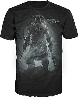 Bioworld The Elder Scrolls V: Skyrim Men's Black T-Shirt Tee Shirt