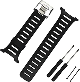 20mm Black Rubber Watch Strap Replacement SUUNTO T1 T1C T3 T3C T3D T4C T4D