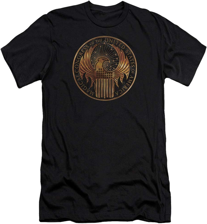 Fantastic Beasts  Mens Magical Congress Crest Premium Slim Fit TShirt