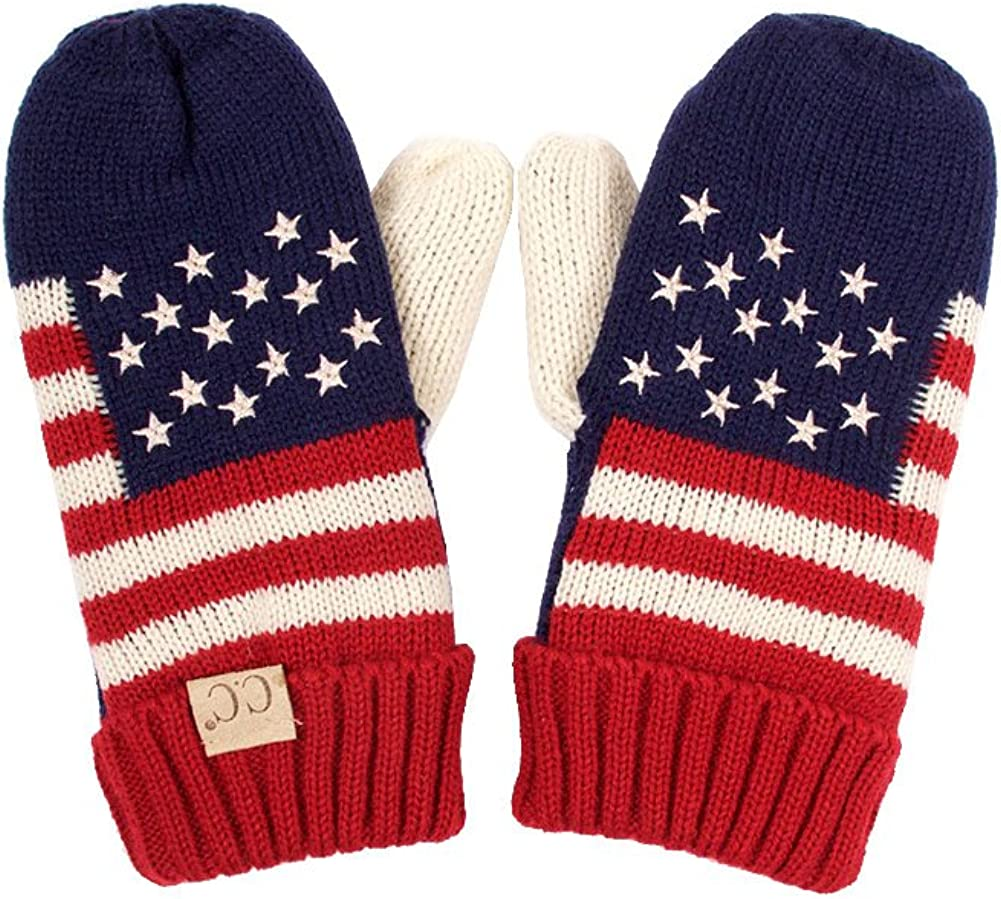 ScarvesMe Kids Children Girls Boys USA Patriotism American Flag Mitten Gloves