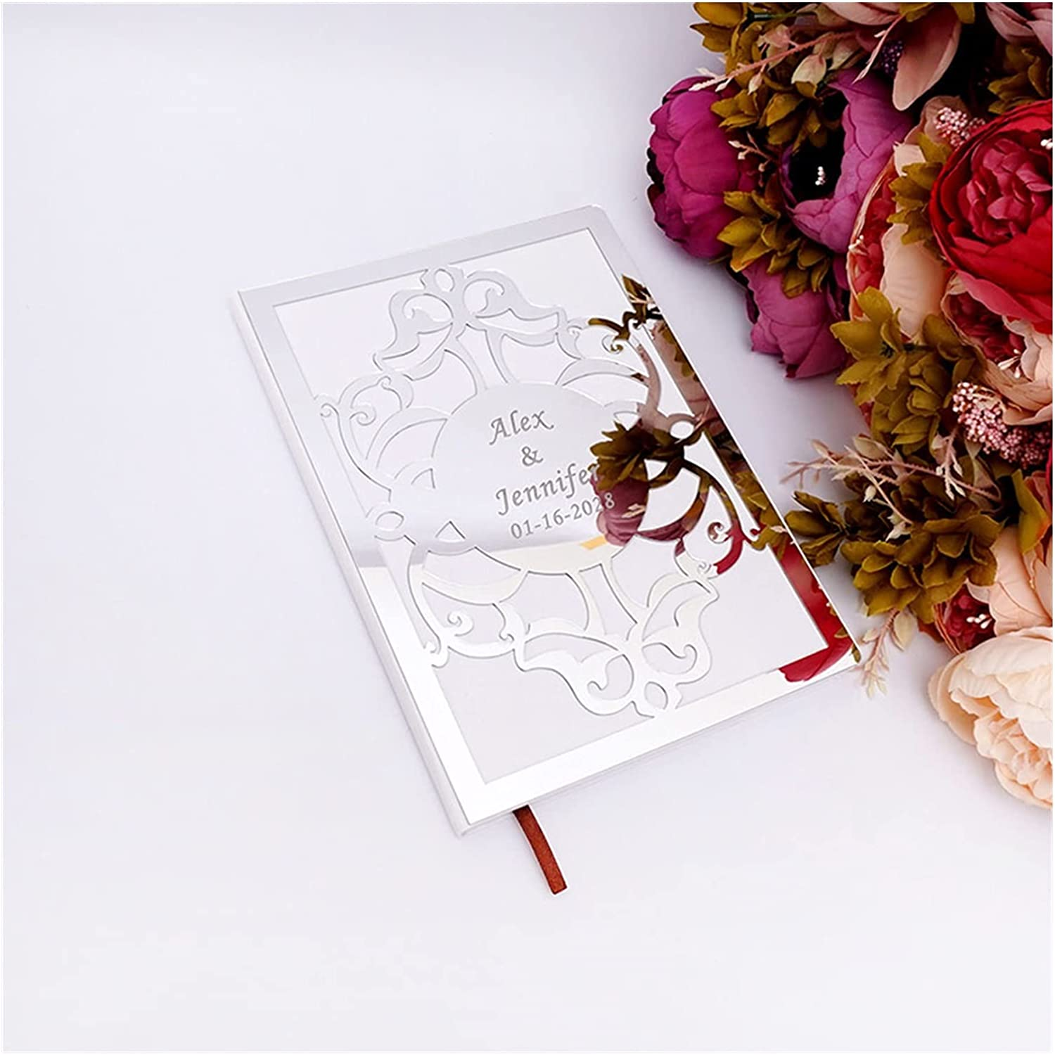 HUMINGG Wedding Cheap mail order sales [Alternative dealer] Guest Book Personalized Custo