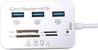 CMDZSW Hub USB 3.0 Combo 3 Porte Lettore di Schede Ad Alta Velocità USB Splitter All In One Hub USB 3.0 Per PC Computer Ac...