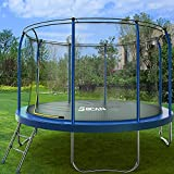 BCAN Trampoline - Outdoor Trampoline for Kids and Family 450LBS Weight Capacity, 10FT Backyards Trampolines with Safety Enclosure Net, Jumping Exercise Fitness Heavy Duty Trampoline