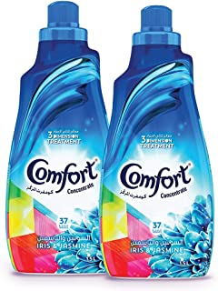 Comfort Concentrated Fabric Softener Iris & Jasmine, 1.5 litres Twin Pack