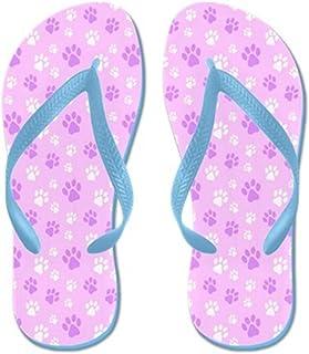 56c2e0468b0c6 Lplpol Cute Paw Prints Flip Flops for Kids and Adult Unisex Beach Sandals  Pool Shoes Party