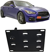JGR No drill Tow Eye Front Bumper Tow Hook License Plate Mount Bracket Holder Adapter Relocation Kit For 2008-2015 Infiniti G35 G37, 2014-up Infiniti Q50 Q60, 2007-2017 Nissan GT-R 2009-2017 370Z