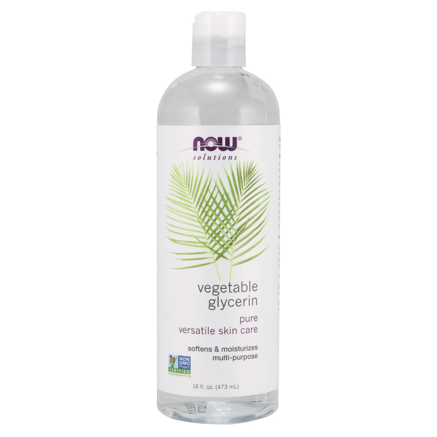 NOW Solutions, Vegetable Glycerin, 100% Pure, Versatile Skin Care, Softening and Moisturizing, 16-Ounce