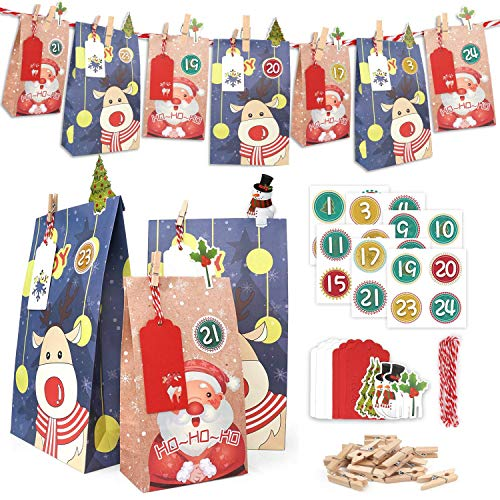 Adventskalender zum befüllen kinder, Advents Kalender Zum Selber Befüllen Basteln Pinguin Advents Tüten (joy Set)