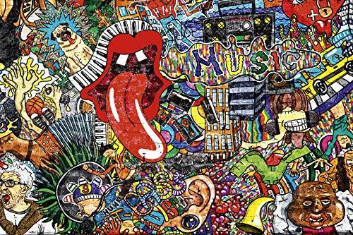 Captainalbatross Graffiti d'art De Rue 1000 Pièces Puzzle pour Adultes Graffiti Puzzle Puzzle Musique Graffiti Street Art Puzzle du Hip-Hop Et du Style De Vie Puzzle