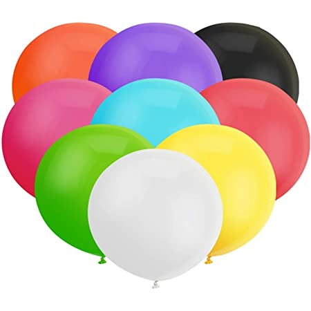 30ct/Pack 18 Inch Big Balloons Multicolored Latex Balloon Giant Thick Balloons for Photo Shoot/Birthday/Wedding Party/Festival/Event/Carnival Decorations