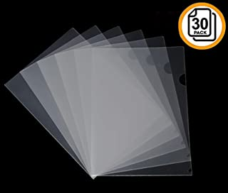 30 Pack Clear Document Folder Copy Safe Project sturdinesspocket US Letter/ A4 Size Simple and Convenient