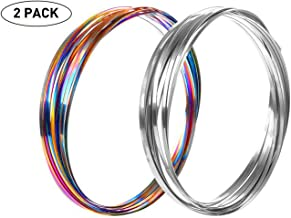 Hbitsae Magic Flow Ring, Kinetic Ring ,Spiral Spring Toy ,for Adult and Child Science Education, Interaction, Stress-Relieving New Toys