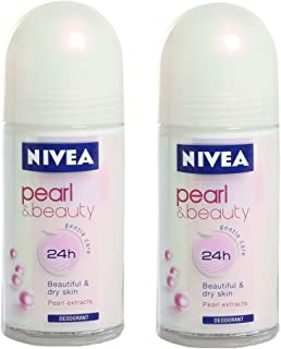 Nivea Pearl Beauty Roll On for Women, 50ml (Pack of 2)