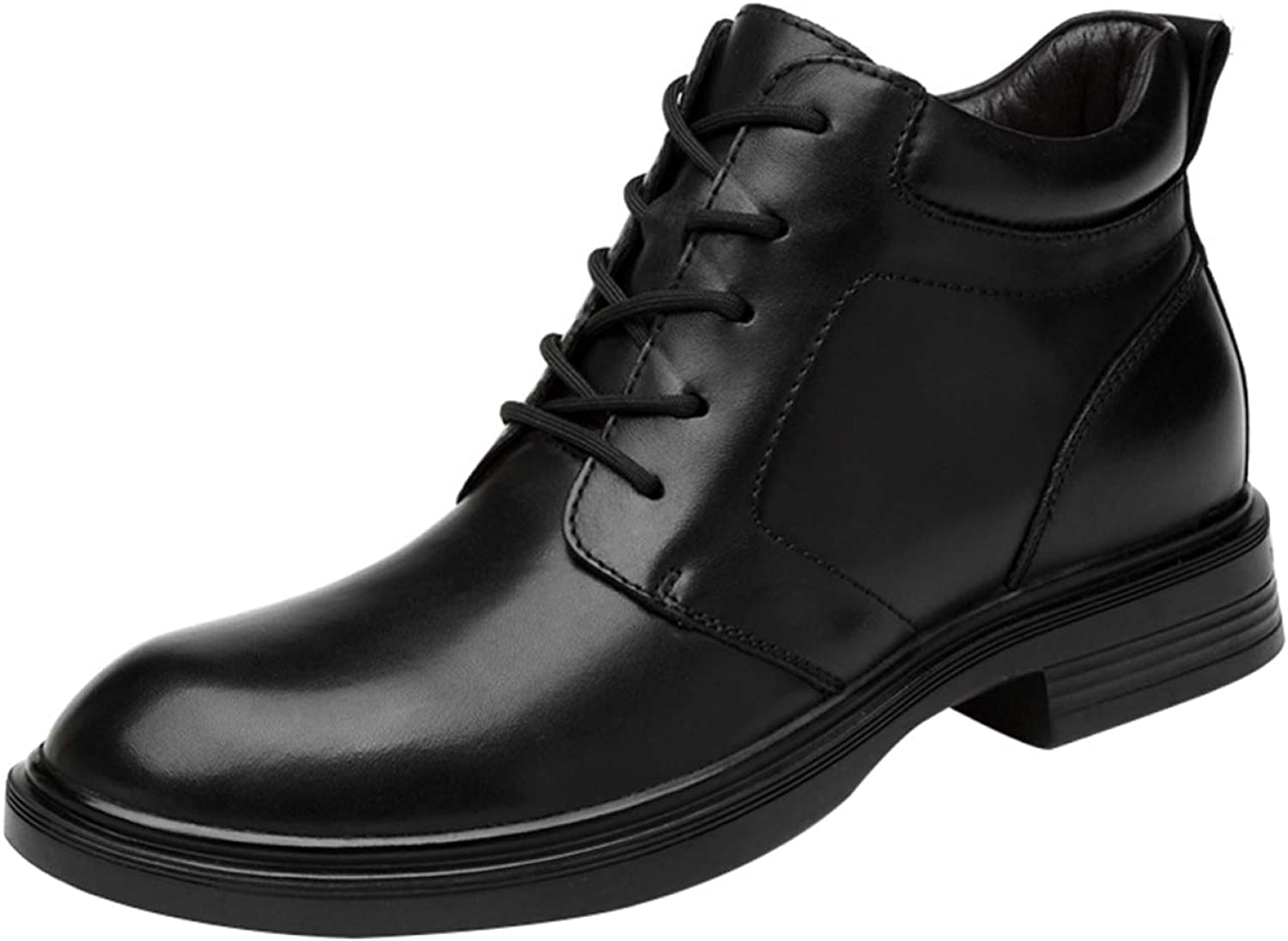 AILINSHA Boots Men's Lace Up Retro Derby Ankle Boots Casual Martin Boots Large Size Black