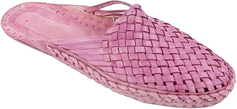 Original kolhapuri chappal Elegant baby pink flat heel half kolahpuri shoe for women slipper sandal