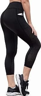 RAYPOSE Women's Workout Running Capris Leggings Pocket Tummy Control High Waist Yoga Pants